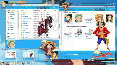 theme windows 10 one piece theme windows 7 one piece the mugiwara s new world v3