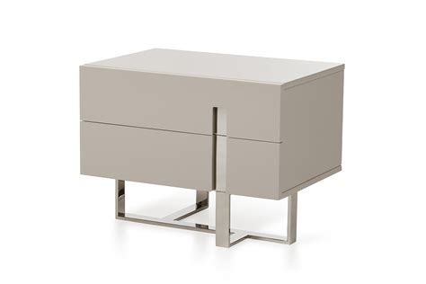 modern bedroom nightstands modrest voco modern grey nightstand nightstands bedroom