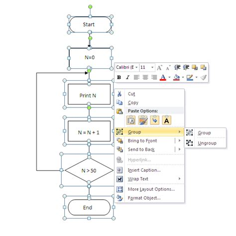 how to create a flowchart in word 2010 programming steps how to draw flowchart in word 2003
