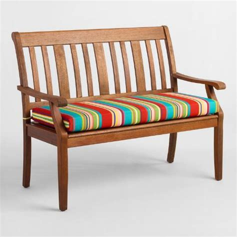striped garden bench cushions striped coastal blossom outdoor bench cushion world market