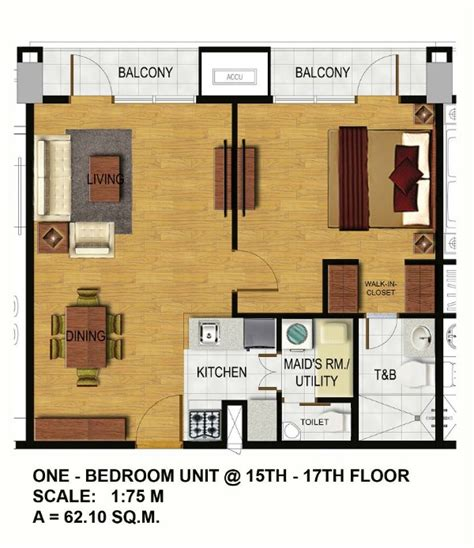 1 bedroom unit arterra residences