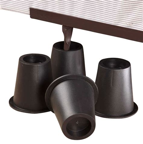 bed riser walterdrake black bed risers set of 4 ebay