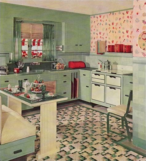 1930s Style Home Decor by Retro Kitchen Design You Never Seen Before
