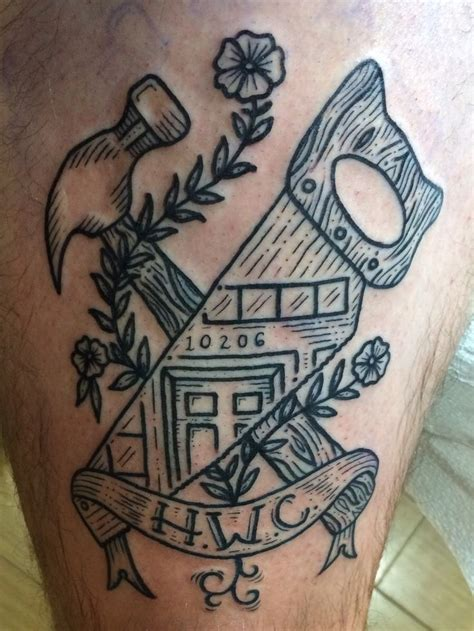 construction tattoos 25 best ideas about hammer on fox