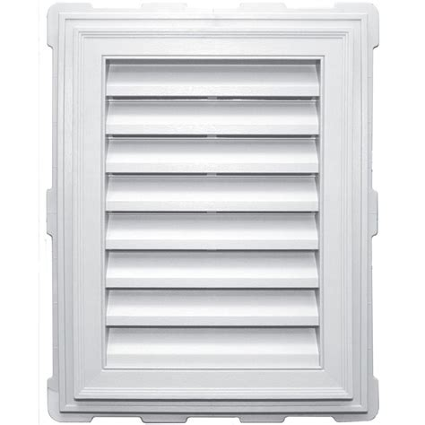 builders edge 6 12 triangle gable vent 001 white