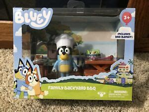 bluey family backyard bbq toy figures set ebay