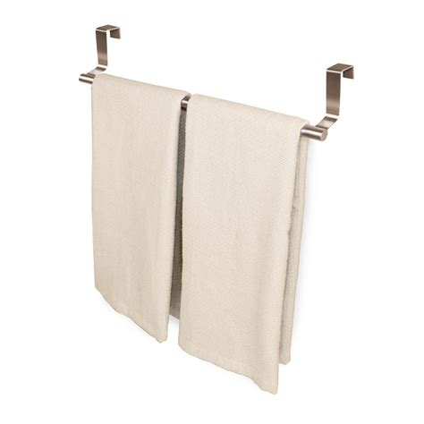 Cabinet Door Towel Rack Youcopia 9 In To 16 3 8 In Expandable The Cabinet Door Towel Bar In Stainless Steel
