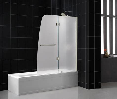 Glass Shower Tub Doors Frosted Vs Clear Glass Shower Doors Bathroom
