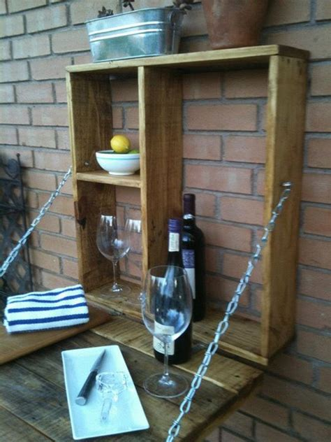 pallet fold  outdoor bar diy pallet fold