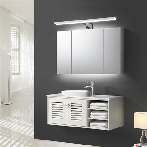 bathroom cabinet led lights ac220v 230v 600 800mm modern led mirror light for bathroom