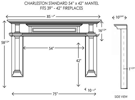 standard mantel height wood fireplace mantels fireplace mantel charleston