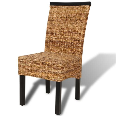 brown abaca handwoven kitchen dining chair set 6 pcs ebay