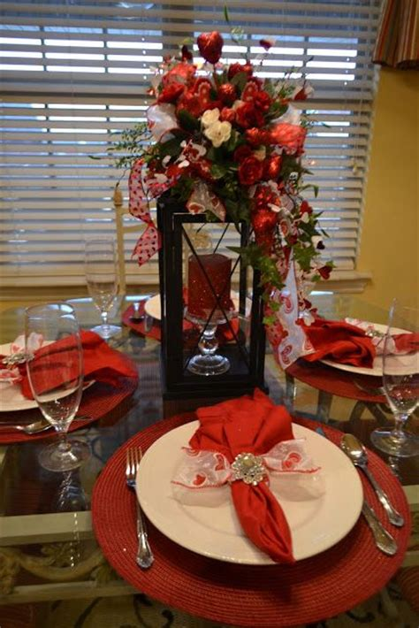 beautiful valentines day table decorations i like the lantern candle not sure about the
