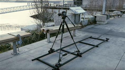 Single man camera dolly track