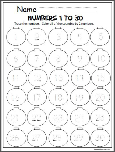 printable number worksheets 1 30 write numbers 1 30 worksheets preschool write best free