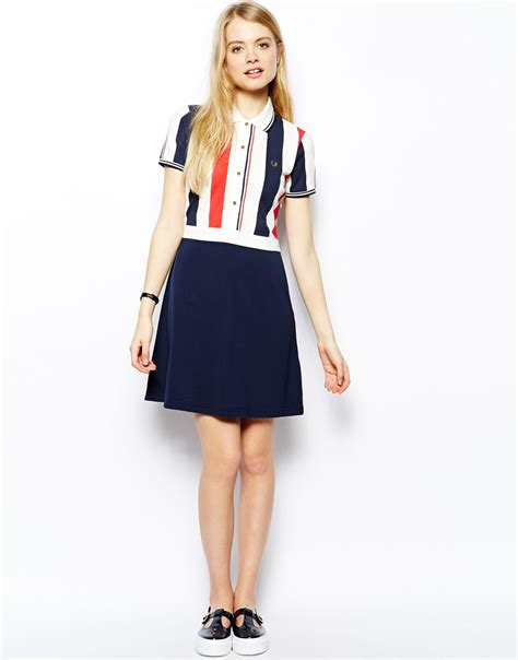 Limited Edition Mix Stripe Knitted Top Terlaris lyst fred perry southsea deckchairs polo dress with striped top in blue
