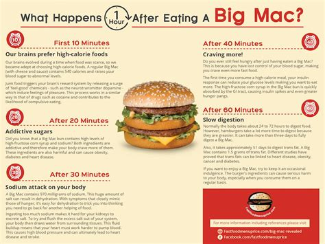 what happens when a eats cheese what happens one hour after a big mac fast food menu price