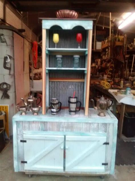coffee bar base cabinet  recycled pallets recyclart