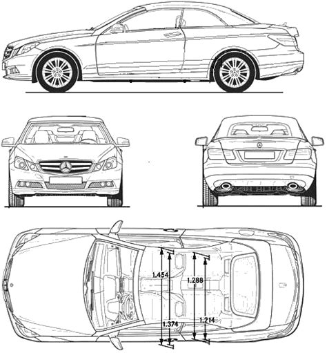 car blueprints mercedes benz e class w212 blueprints