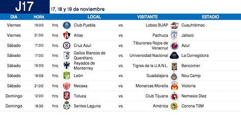 Calendario De La Liga 2017 Calendario Completo Apertura 2017 De La Liga Mx