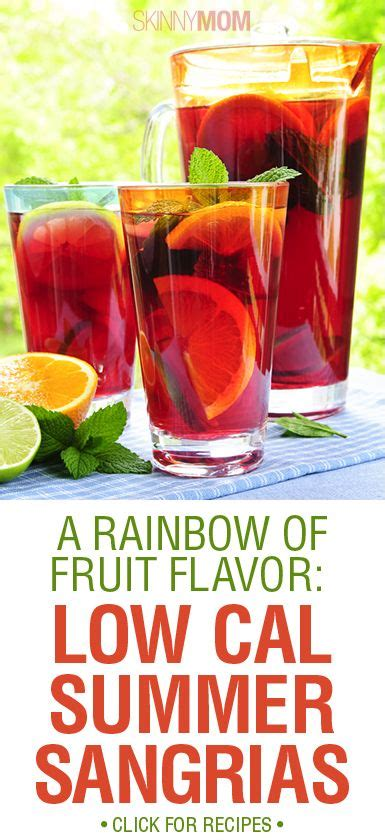 7 Low Cal Flavor Boosters by Summer Sangria Sangria And A Rainbow On
