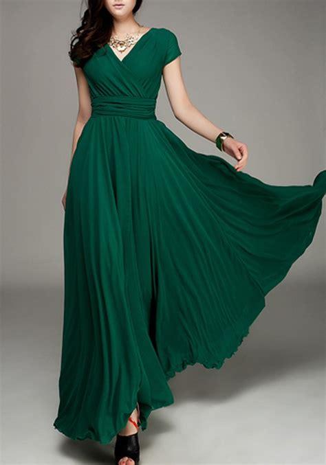 Blue Army Maxi Dress green pleated deck bohemian sleeve
