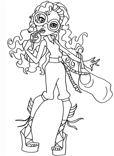 monster high coloring pages gil gill lagoona blue monster high coloring pages gill best