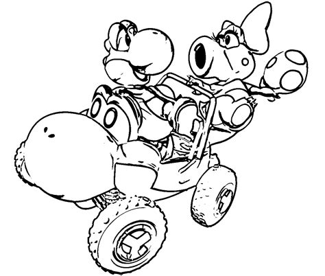 mario kart coloring pages go kart coloring pages coloring home