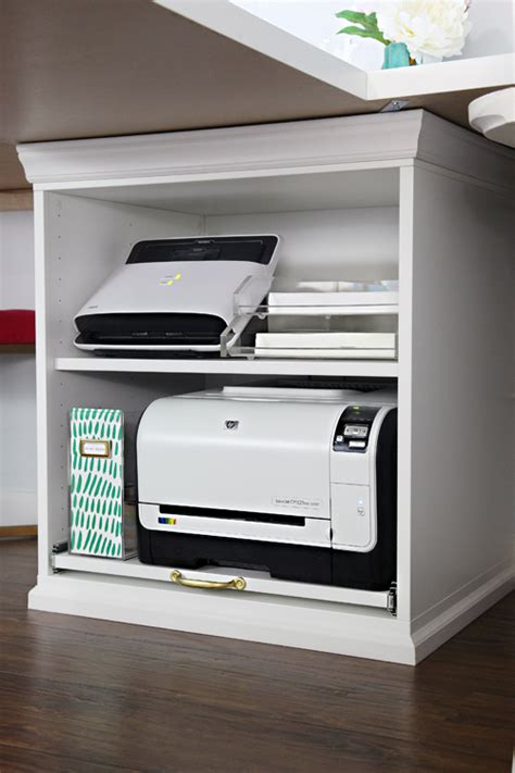 printer storage iheart organizing ikea stuva printer cart hack