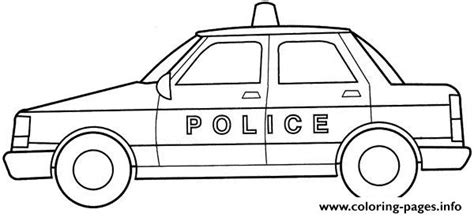 free coloring pages of simple car police car simple kid coloring pages printable