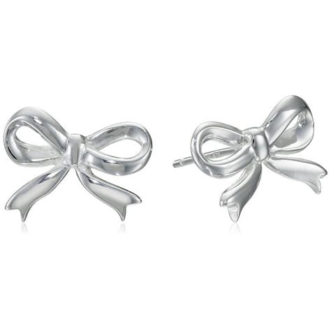 sterling silver bow post earrings wixez