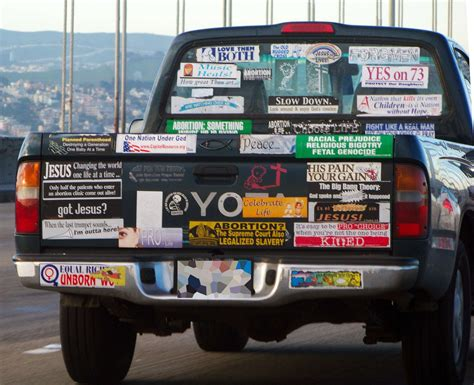 Bumper Stickers Trucks bumper sticker truck of the day 171 dvorak news