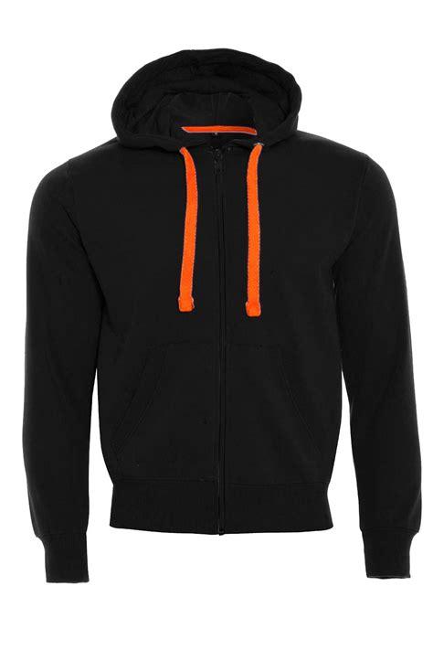 Jaket Zipper Hoodie Sweater You Hitam 3 mens fleece zip up zipper hoodies sweatshirt neon strings sleeve jacket top ebay