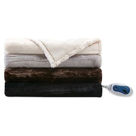 electric blanket bed bath and beyond beautyrest 174 heated throw blanket bed bath beyond