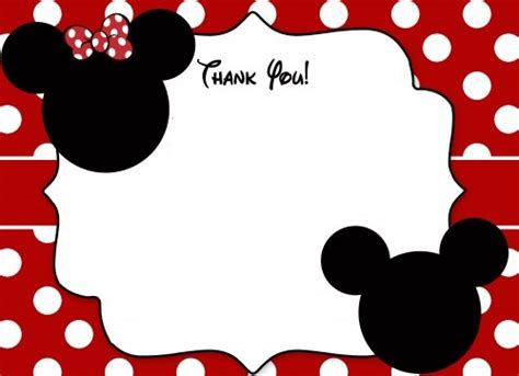 free mickey mouse thank you card template free printable mickey mouse birthday cards luxury