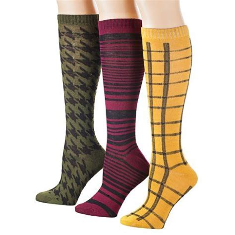 sock boots cheap tipi toe s 3 pack patterned knee high socks