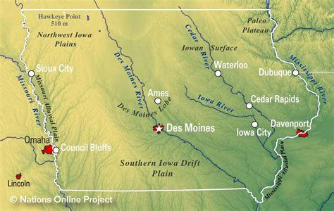 iowa state in usa map reference maps of iowa usa nations project