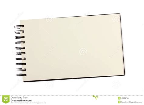 blank sketchbook blank sketchbook or notebook stock photo image of white