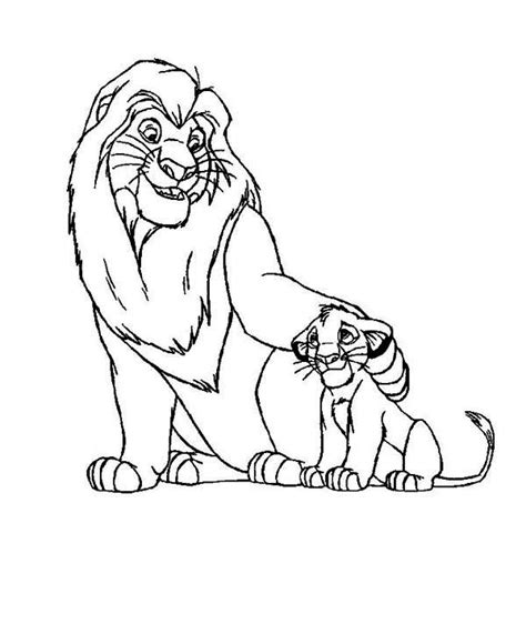 Mufasa And Simba Coloring Pages Coloring Pages Mufasa Coloring Pages