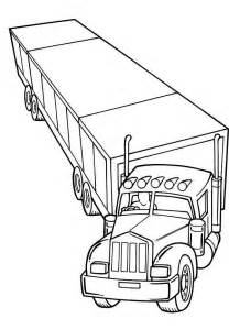 semi truck coloring pages semi trucks cliparts co