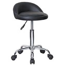 modern home juno adjustable height stool with wheels black rolling