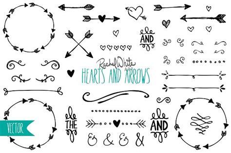 free doodle arrow font hearts arrows vector png illustrations creative