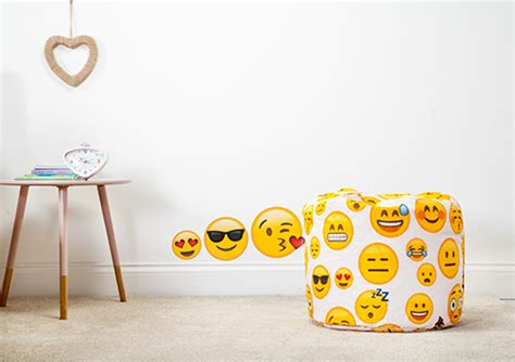 furniture emoji emoji girl childrens beanbag bean bag seat play room