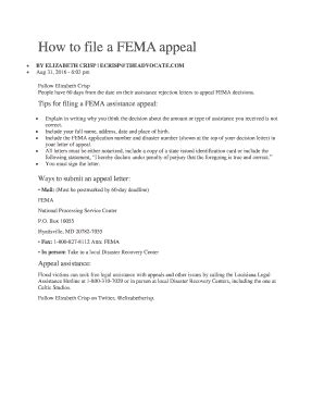 Appeal Letter To Fema fillable how to file a fema appeal fax email print