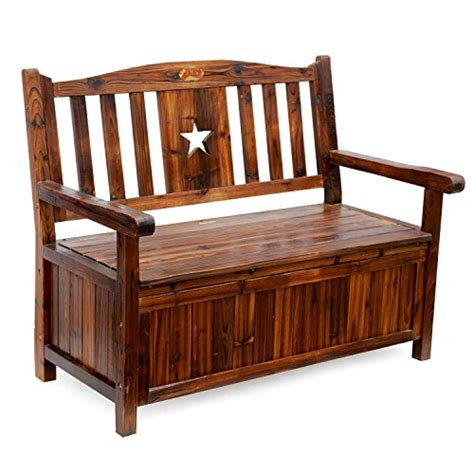 chest bench songsen wooden storage bench with arm and back garden