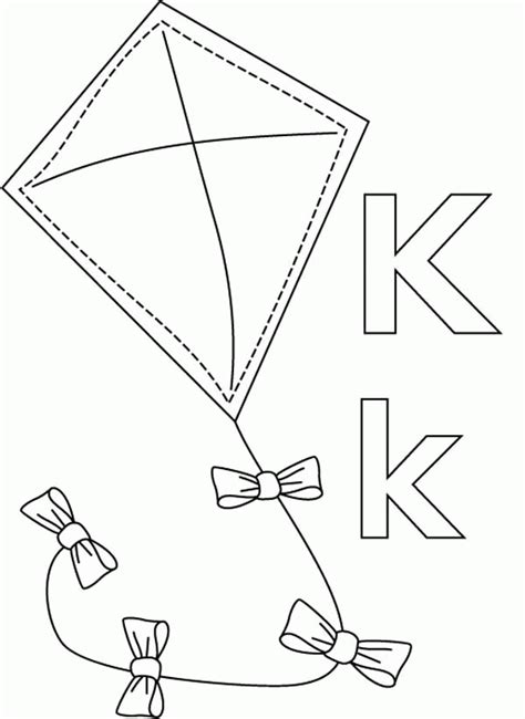 what color starts with k letter k coloring page coloring home