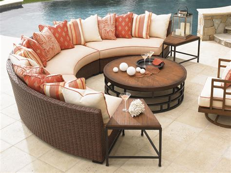 Ocean Club Pacifica Armless Curved Sofa Lexington Home Curved Outdoor Furniture
