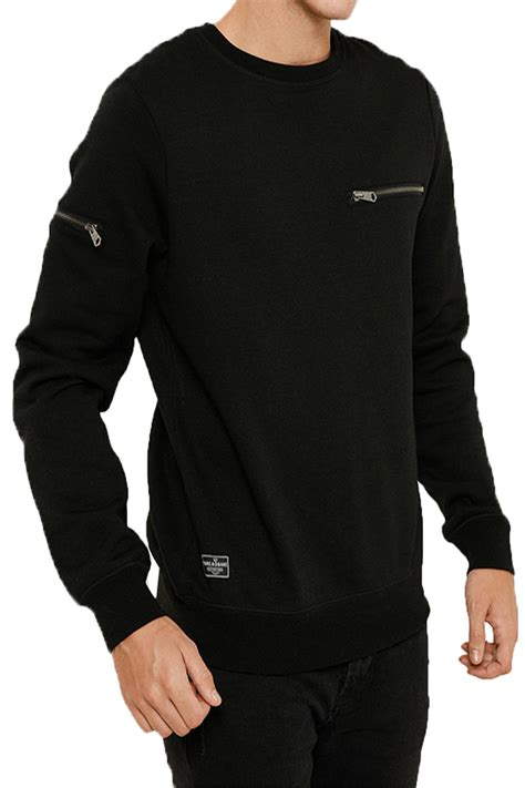 Zip Detail Pullover threadbare mens chapel sweater designer zip detail