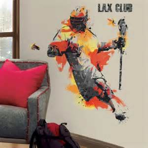 Lacrosse Wall Mural Men S Lacrosse Champion Peel And Stick Giant Wall Decals