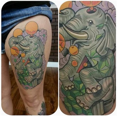 new school elephant tattoo baloon elephant new school tattoo by anthony ortega best